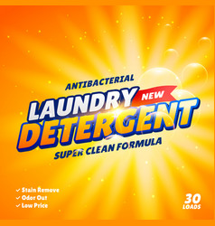 Laundry detergent product package design template vector