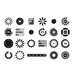 loading icon set simple style vector image