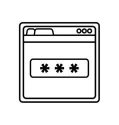 Login access template isolated icon vector