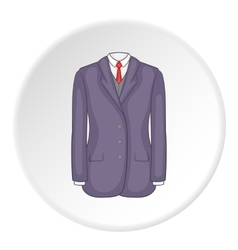 Men suit icon cartoon style vector image