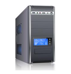 Modern computer case vector