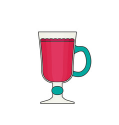 Mulled wine flat icon vector