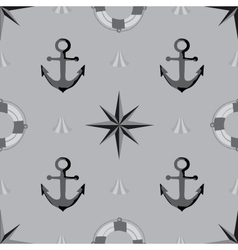 Seamless texture The maritime theme vector image vector image