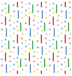 Serpentine tinsel sequins confetti pattern vector