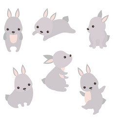 Set of cute hares set of cute hares vector
