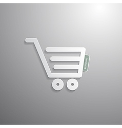 Shopping Cart Basket Symbol vector image
