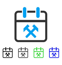 Working day flat icon vector