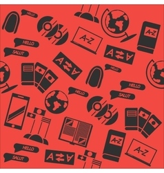 Languages education collage vector