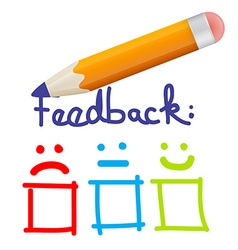 Feedback icon with pencil vector