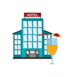Hotel and cocktail icon vector