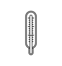 Medical thermometer icon outline style vector
