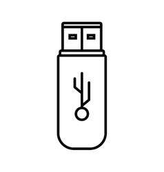 Usb memory storage isolated icon vector