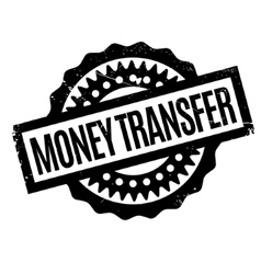 Money transfer rubber stamp vector