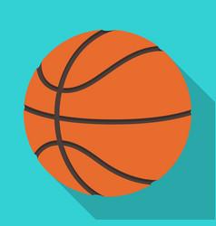 basketballbasketball single icon in flat style vector image
