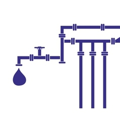 Water pipeline vector
