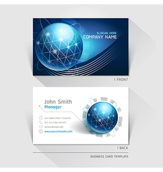 Business card technology background vector