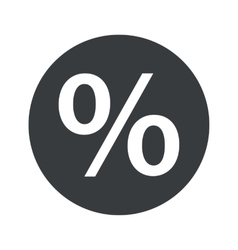 Monochrome round percent icon vector