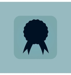Pale blue certificate seal icon vector