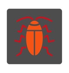 Cockroach rounded square button vector