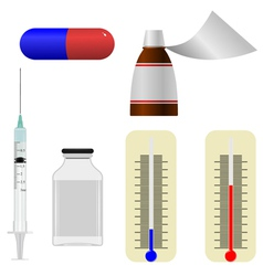 Set of s of medical items vector