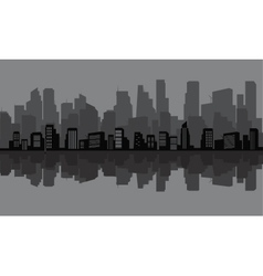 Silhouette of many tall building vector