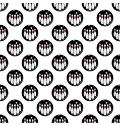 Bowling pattern seamless vector