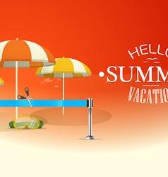 Summer seaside vacation vacation design template vector