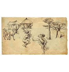 African dancers vector