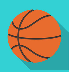 basketballbasketball single icon in flat style vector image vector image