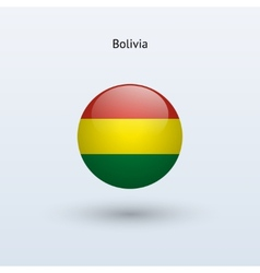 Bolivia round flag vector image