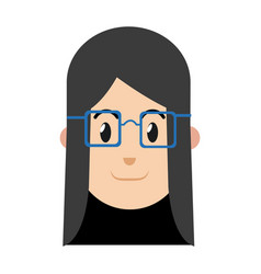 character woman female with glasses image vector image