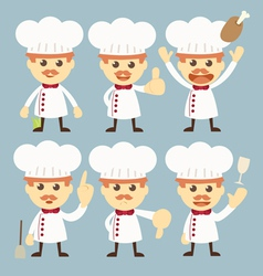 chef character set cartoon vector image vector image