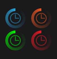 circular neon loading vector image