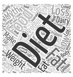 Common Myths From The Weight Loss Crowd text vector image
