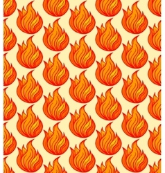 Fire symbols seamless pattern vector