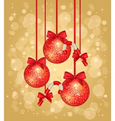 gold christmas greeting card vector image vector image