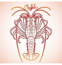 Graphic crayfish vector image