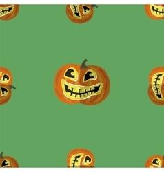 Halloween smiling pumpkin seamless pattern vector