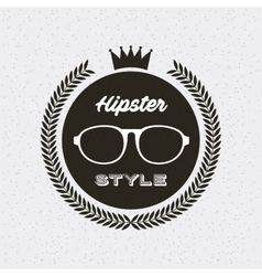 hipster style classic emblem vector image vector image