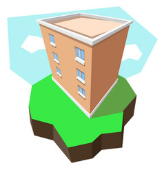 multi-storey building 3d vector image vector image