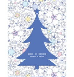 ornamental abstract swirls Christmas tree vector image