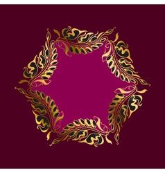 Purpur wreath art nouveau style vector