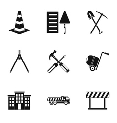 Repair icons set simple style vector image vector image