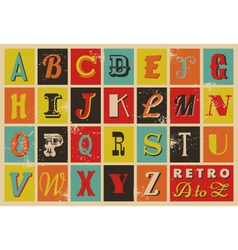 Retro alphabet vector