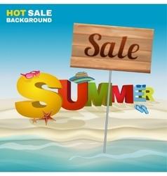 Seasonal summer sale poster vector
