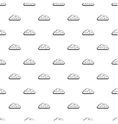 snow cloud pattern vector image vector image