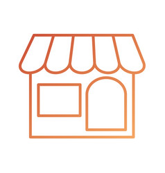 store front exterior delivery online symbol vector image vector image