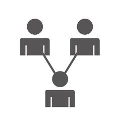 Teamwork avatar people flat icon vector
