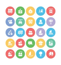 Transport bold icons 3 vector