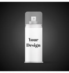 White metal bottle with sprayer cap for cosmetic vector image vector image